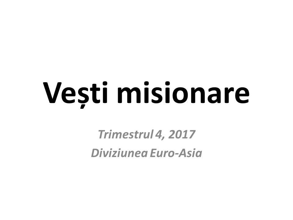 Vești misionare Vești misionare