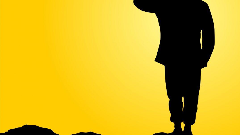 saluting soldier silhouette 1 Studii Adolescenți