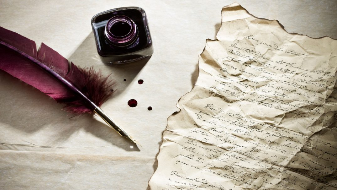 feather pen writing letter with ink bottle HD wallpapers Resurse