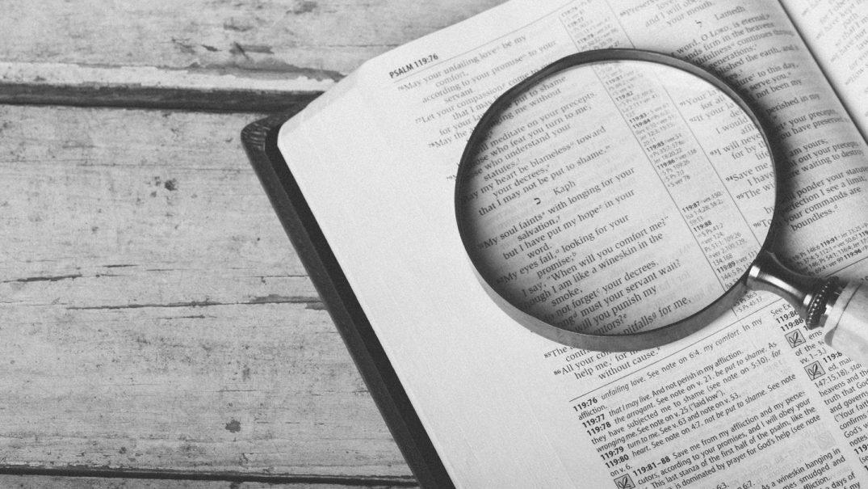 bible magnifing galss Studii Adolescenți