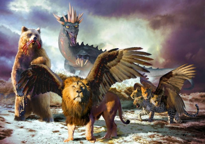 the four beasts Studii Majori